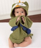 Hooded baby bath towel, various designs