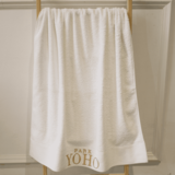 Embroidered large satin hotel towels
