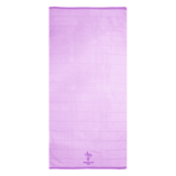 Embroidered lavender purple bath towel